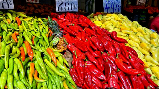 Market peppers, Budapest, Hungary