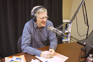 Rick Steves on his radio show