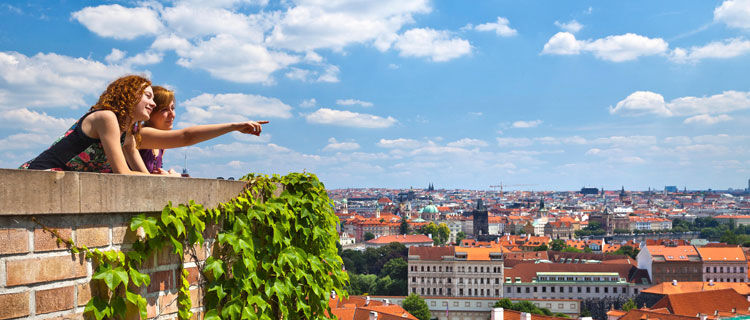 City overlook at Prague Castle, Prague, Czech Republic