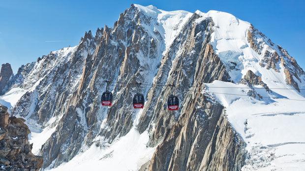 Aiguille du Midi gondolas, near Chamonix, France