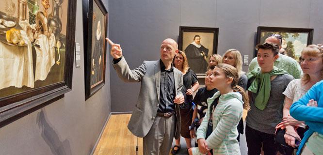 Museum guide, Rijksmuseum, Amsterdam, Netherlands