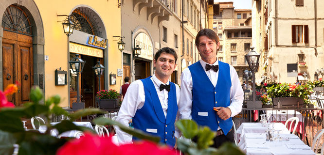 Waiters, Florence, Italy