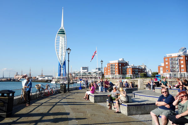 Waterfront and Spinnaker Tower, Portsmouth, England