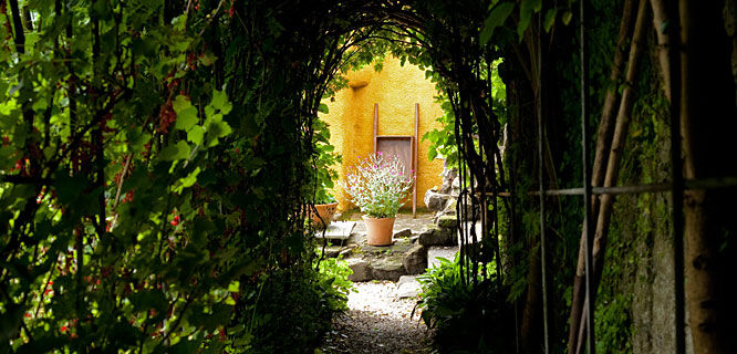 Gardens at Culross Palace, Culross, Scotland