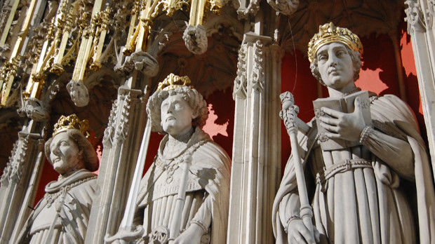 Statues on York Minster, York, England