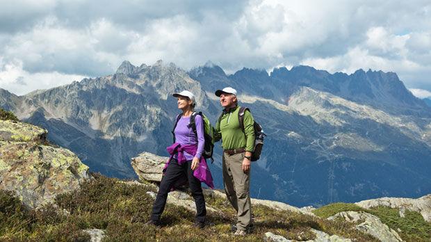 Hiking above Chamonix, France