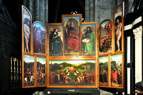 Ghent Altarpiece, St. Bavo's Cathedral, Ghent, Belgium