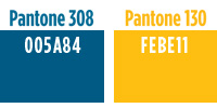 Our Pantone colors are 308 and 130