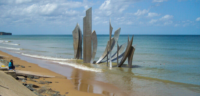 'The Braves' statue, Omaha Beach, Normandy, France