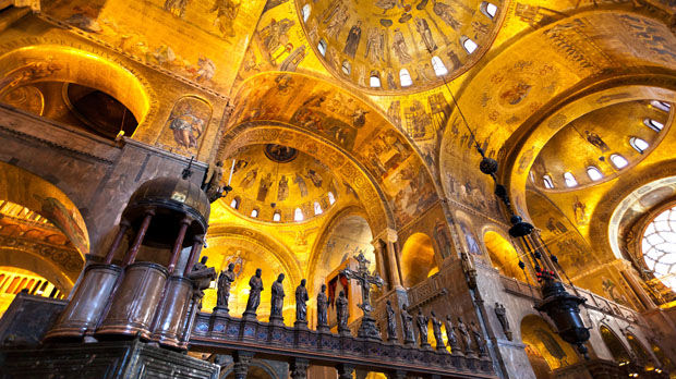 Inside St. Mark's Basilica, Venice, Italy