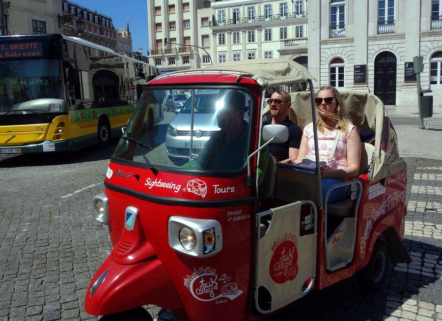 Tuk-tuk taxi, Lisbon, Portugal
