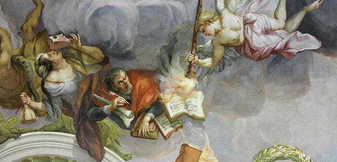 Karlskirche ceiling, Vienna, Austria