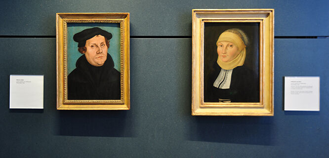 Portraits of Martin Luther and Katharina von Bora, Luther House, Wittenberg, Germany