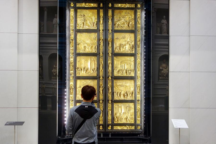 Bapistery doors (Ghiberti), Duomo Museum, Florence, Italy