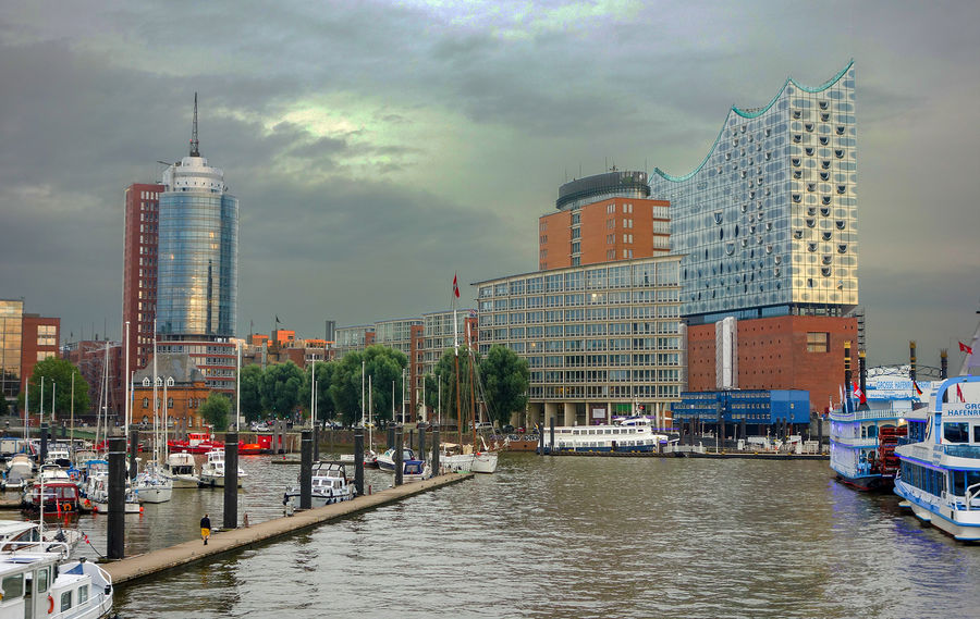 HafenCity district with the Elbphilharmonie concert hall, Hamburg, Germany