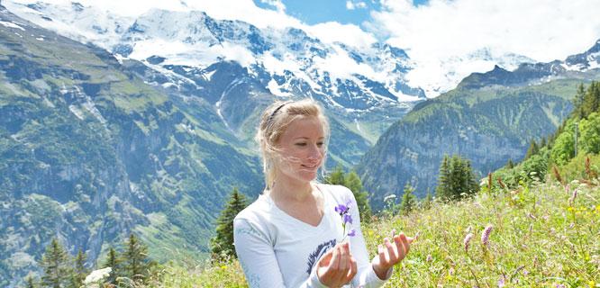 Hiking above Mürren, Switzerland
