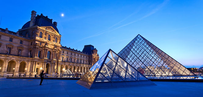 The Louvre and its pyramids, Paris, France