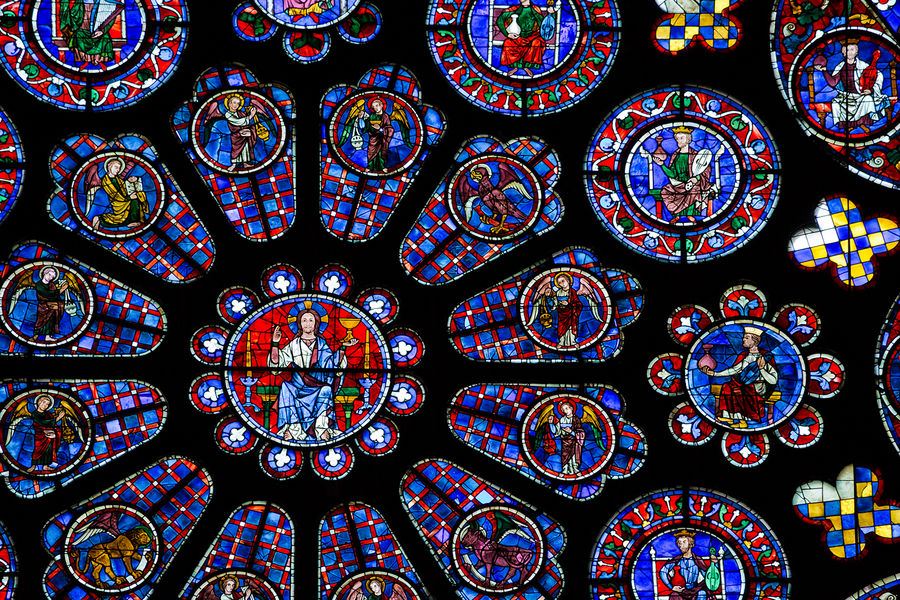 Stained glass, Chartres Cathedral, Chartres, France