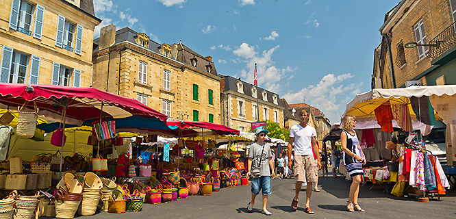 Market day in Sarlat-la-Canéda, France