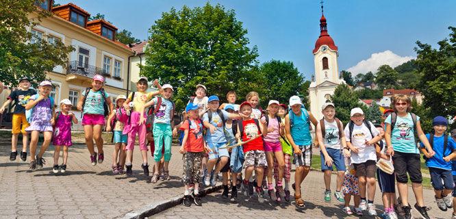 Schoolkids in Štramberk, Czech Republic