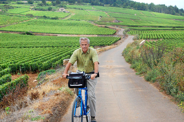 Biking in Burgundy, France