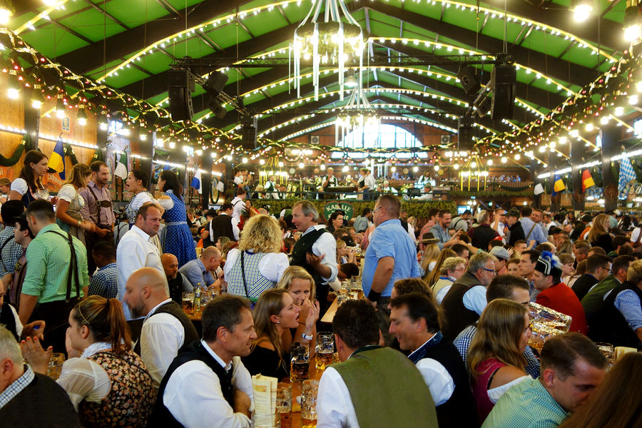 Augustiner tent at Oktoberfest, Munich, Germany