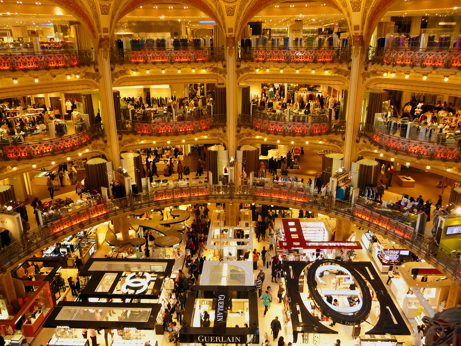 Galeries Lafayette department store, Paris, France