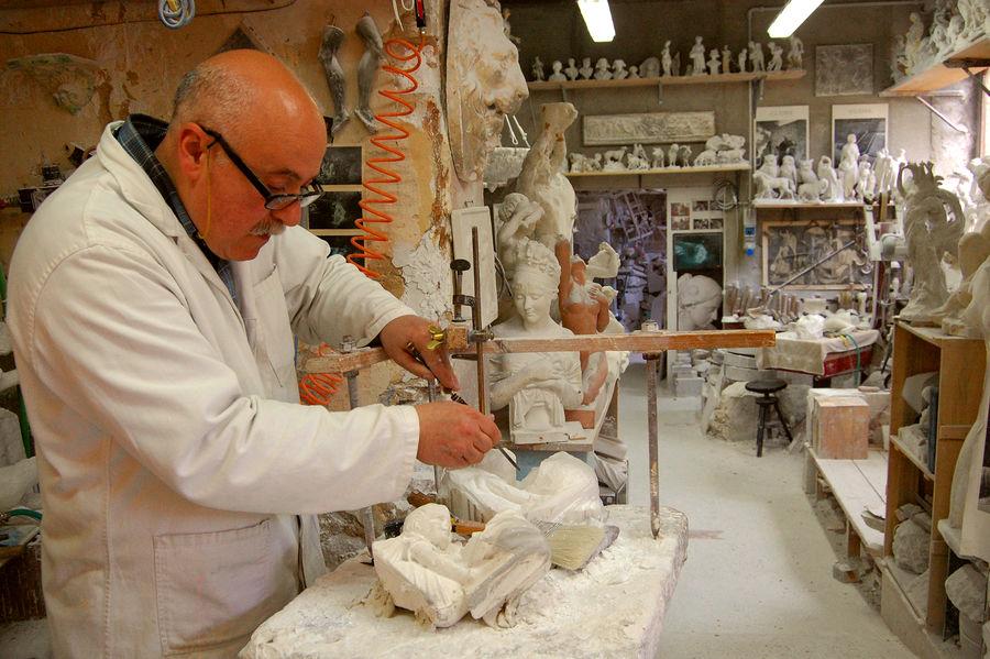 Alabaster shop, Volterra, Italy