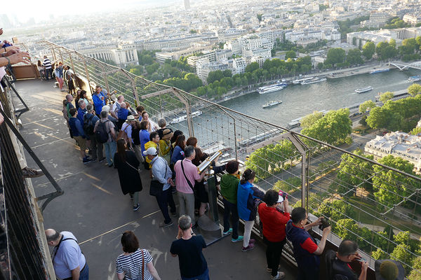 Viewing platform on the second level of the Eiffel Tower, Paris, France