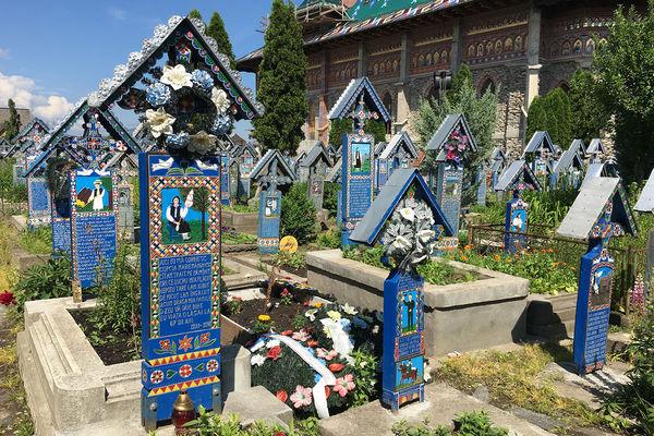 """""""Merry Cemetery,"""" Maramureș, Romania"""
