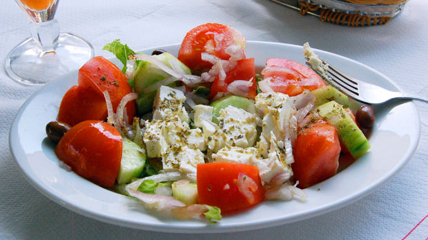 Greek salad, Hydra, Greece