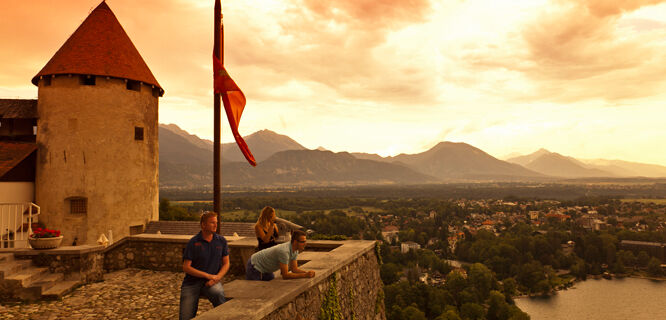 View from Bled Castle, Bled, Slovenia
