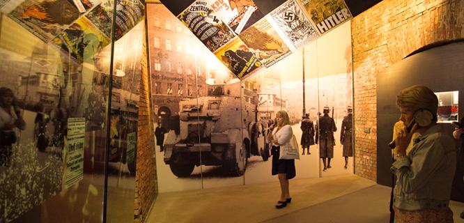 Exhibit inside the Nazi Documentation Center, Nürnberg, Germany
