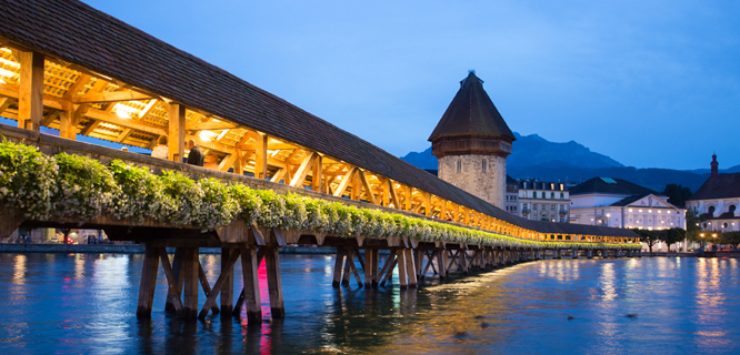 Chapel Bridge, Luzern, Switzerland