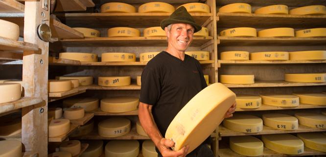 La Maison du Gruyère cheese factory, Gruyères, Switzerland