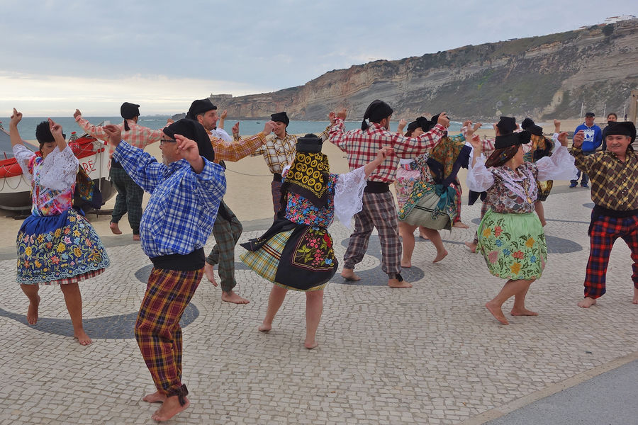 Traditional dancers, Nazaré, Portugal