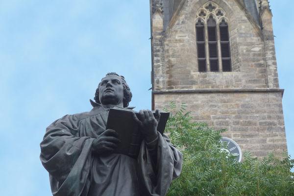 Statue of Martin Luther in Erfurt, Germany