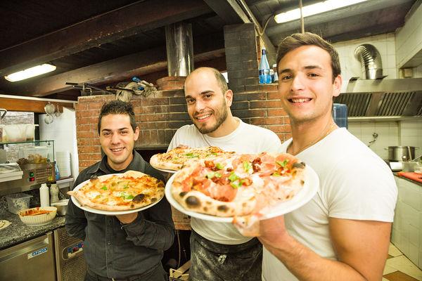 Pizzeria in Taormina, Sicily, Italy