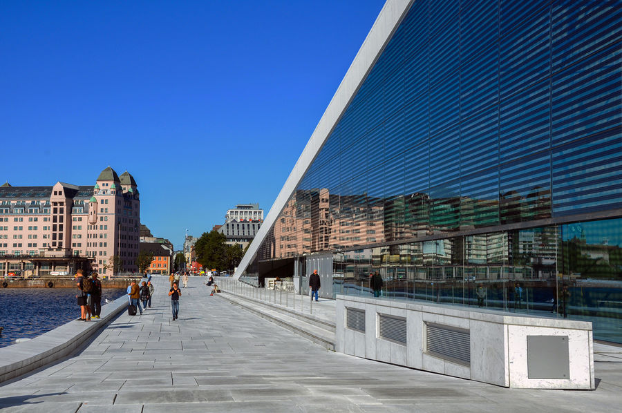 Waterfront promenade, Oslo, Norway