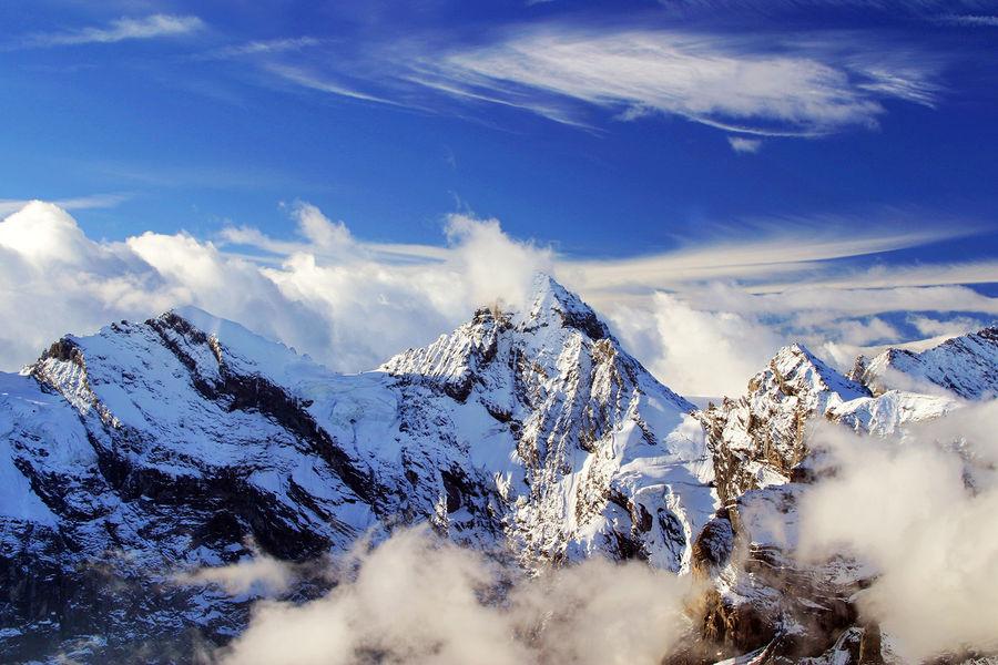 Gspaltenhorn peak as seen from the Schilthorn summit, Berner Oberland, Switzerland