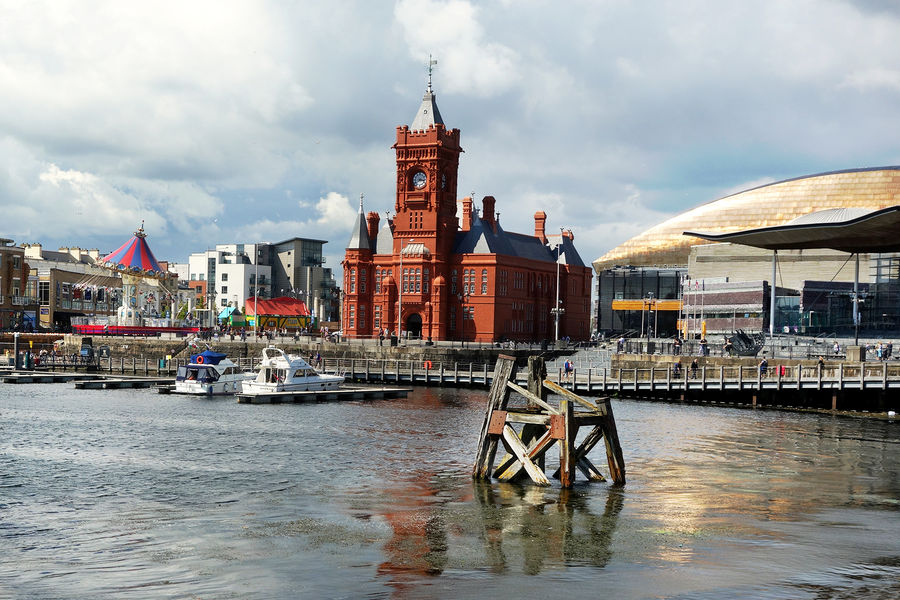 Pierhead Building and Docklands district, Cardiff, Wales