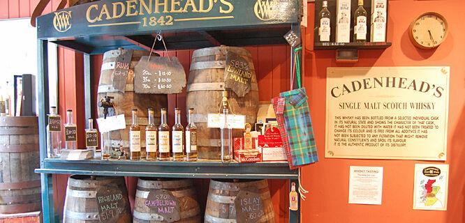 Whisky shop, Edinburgh, Scotland