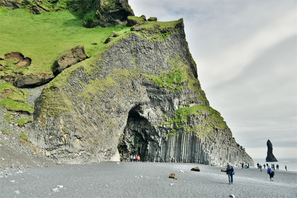 Hexagonal columns at Reynisfjara, South Coast, Iceland