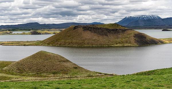 Skútustaðir pseudocraters, Lake Mývatn, Iceland