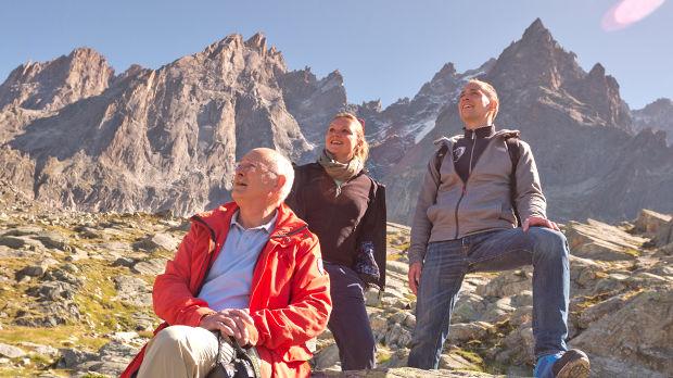 Hikers near Chamonix, France