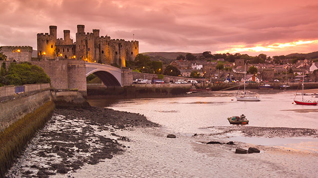 Conwy Castle and Harbour, Wales