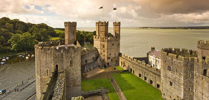 Caernarfon Castle, Caernarfon, Wales