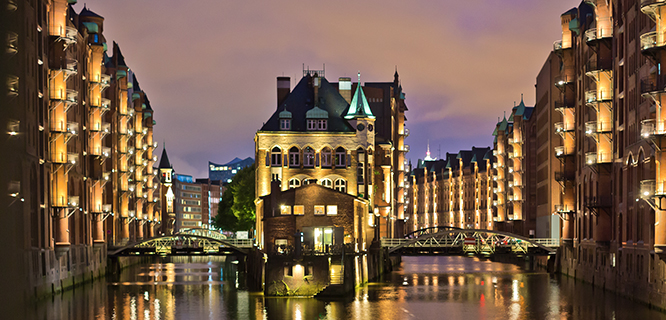 Speicherstadt district, Hamburg, Germany