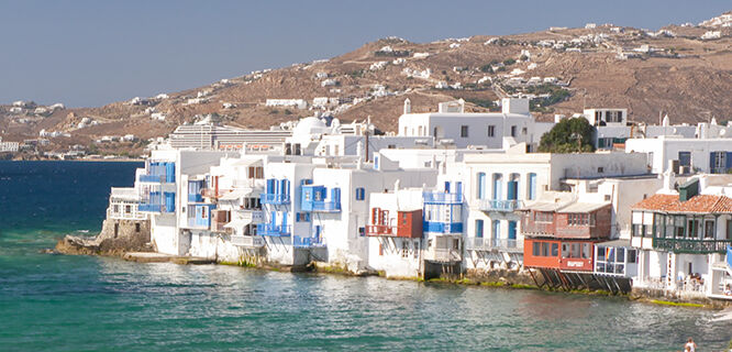"""Little Venice"" district, Mykonos Town, Mykonos, Greece"