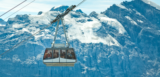 Cable car to Schilthorn summit, Berner Oberland